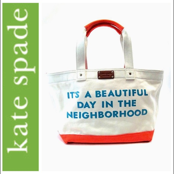 Kate Spade Mr  Rogers canvas tote bag  Gently used